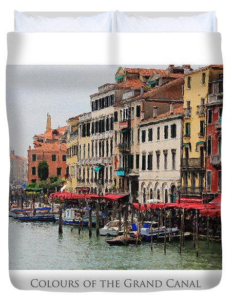 Colours Of The Grand Canal Duvet Cover