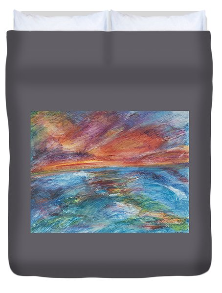 Colours Of The Sea 8 Duvet Cover