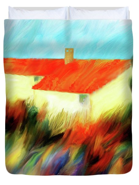 Duvet Cover featuring the painting Colours Of The Wind by Valerie Anne Kelly