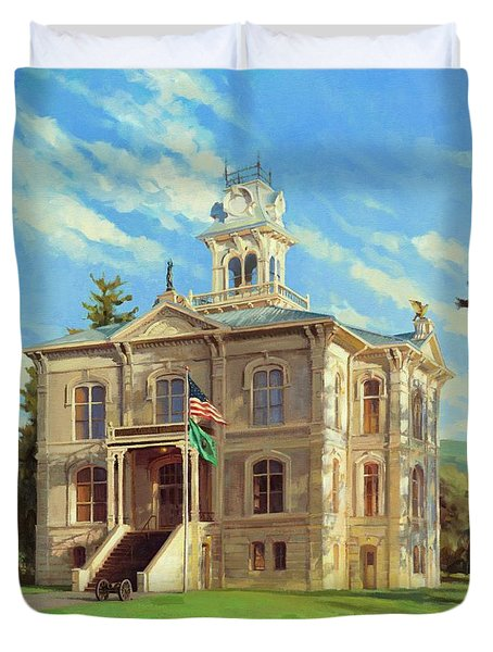 Columbia County Courthouse Duvet Cover