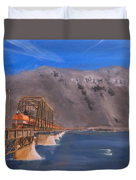 Columbia Crossing Duvet Cover by Christopher Jenkins