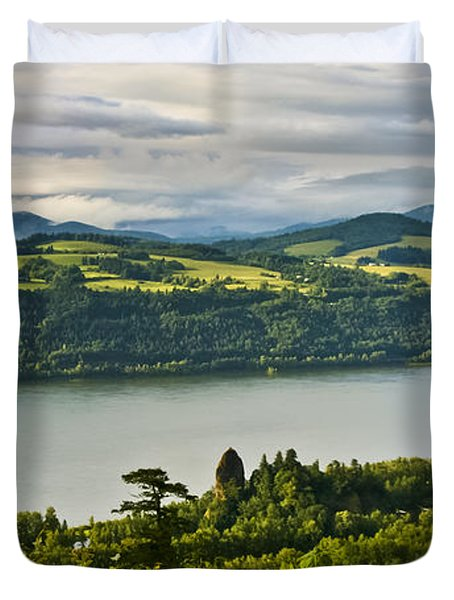 Columbia Gorge Scenic Area Duvet Cover