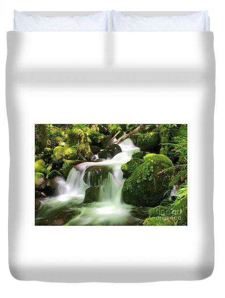 Columbia Gorge Stream Duvet Cover