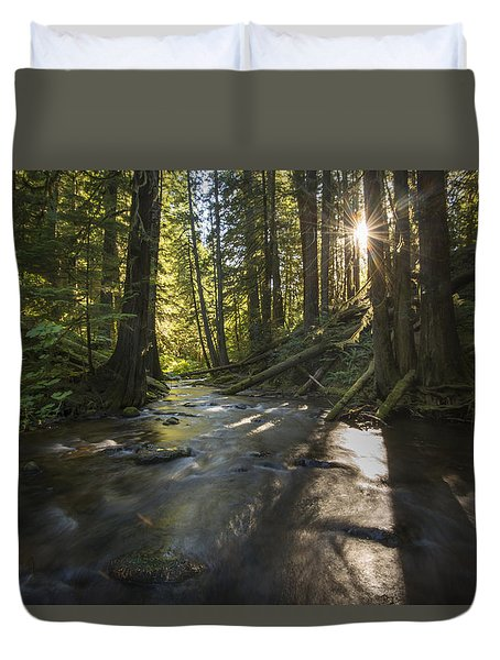 Columbia Gorge Sunrise Duvet Cover