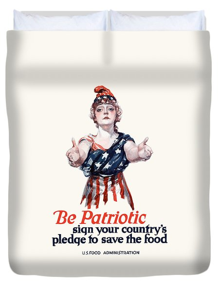 Columbia Invites You To Save Food Duvet Cover by War Is Hell Store