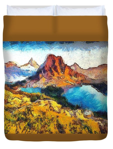 Columbia Lake Reverie Duvet Cover by Mario Carini