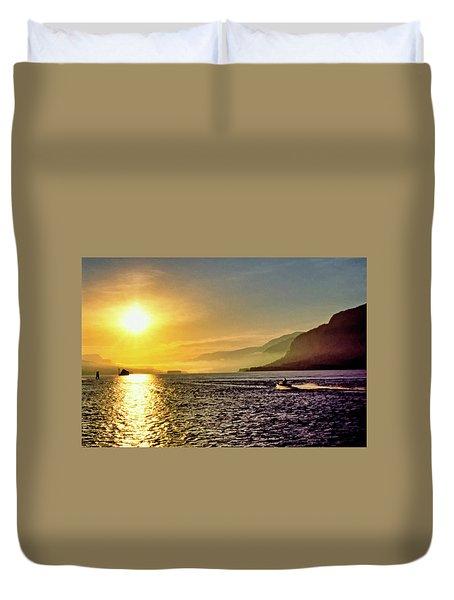 Columbia River 001 Duvet Cover by Scott McAllister