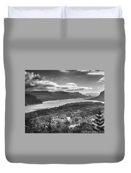 Columbia River Gourge Duvet Cover