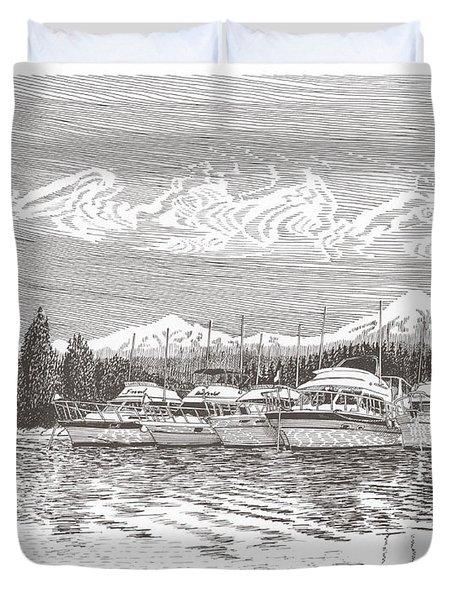 Columbia River Raft Up Duvet Cover by Jack Pumphrey