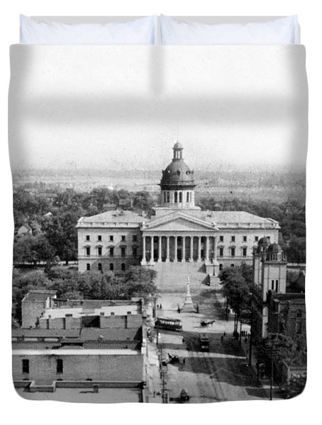 Columbia South Carolina - State Capitol Building - C 1905 Duvet Cover