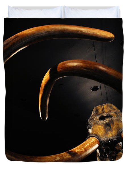 Columbian Mammoth La Brea Tar Pits Duvet Cover