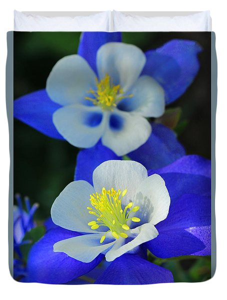 Columbine Day Duvet Cover