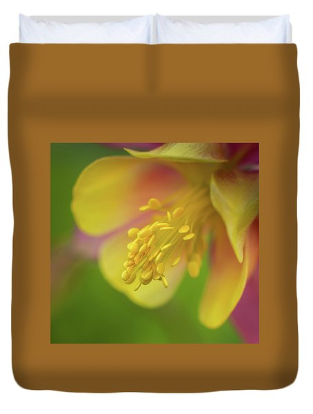 Duvet Cover featuring the photograph Columbine by Greg Nyquist