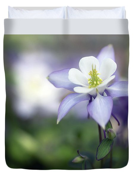 Columbine Queen Duvet Cover by Rebecca Cozart