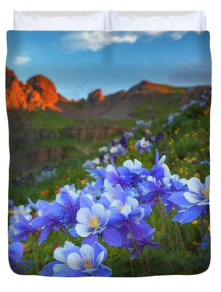 Columbine Sunrise Duvet Cover