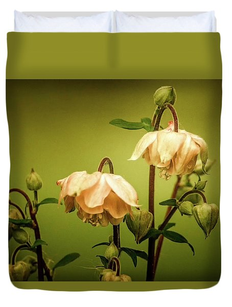 Columbines In Summer Duvet Cover