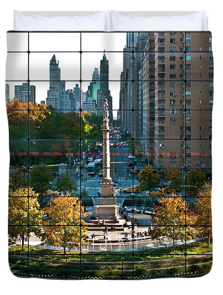 Columbus Circle Duvet Cover by S Paul Sahm