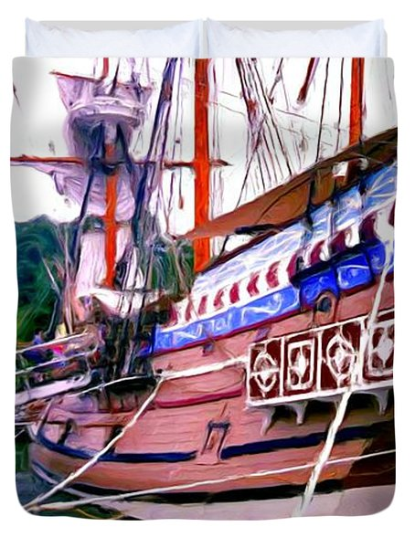 Columbus Day Celebration Duvet Cover by Methune Hively