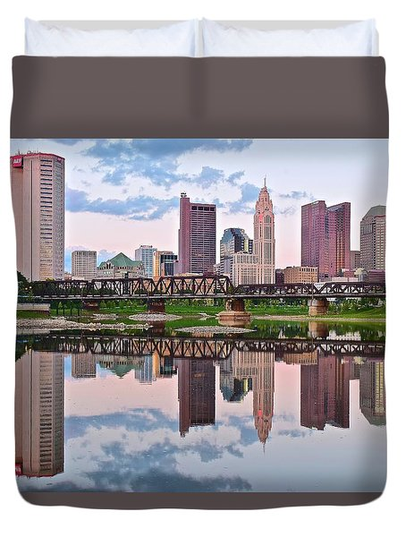 Columbus Ohio Reflects Duvet Cover