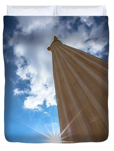 Column To Sky Duvet Cover
