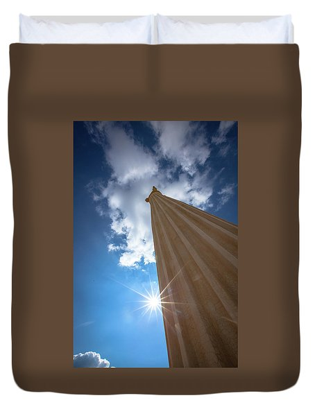 Column To Sky Duvet Cover