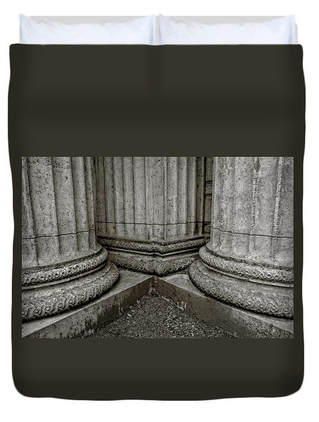 Columns #1 Duvet Cover by Jerry Golab
