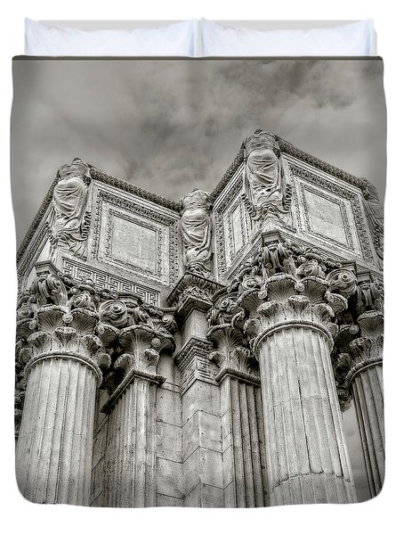 Columns #2 Duvet Cover by Jerry Golab