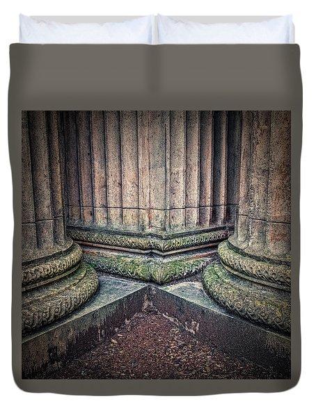 Columns #3 Duvet Cover by Jerry Golab
