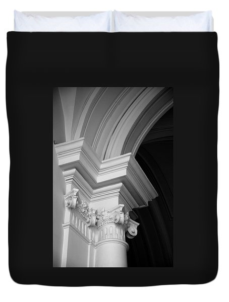 Columns At Hermitage Duvet Cover