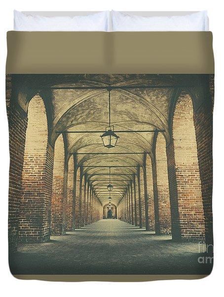 Columns In Sabbionetta, Italy Duvet Cover