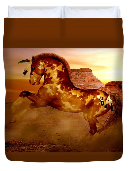 Comanche Duvet Cover by Valerie Anne Kelly