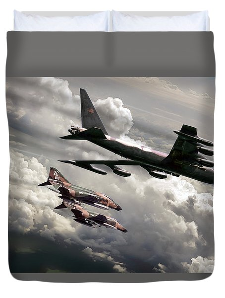 Combat Air Patrol Duvet Cover by Peter Chilelli