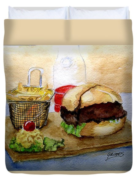 Come And Get It Dinner Is Ready Duvet Cover