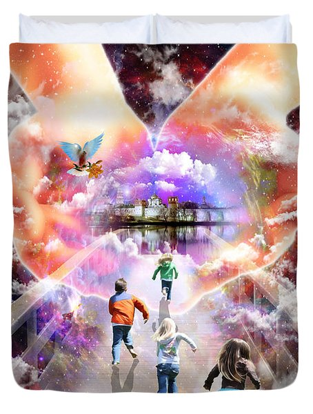 Come As A Child Duvet Cover by Dolores Develde