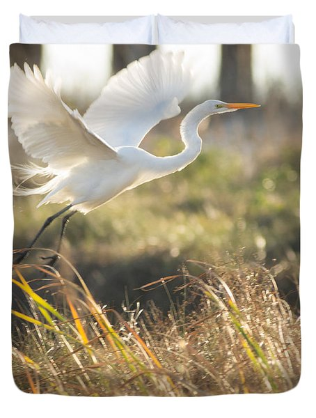 Duvet Cover featuring the photograph Come Fly With Me by Julie Andel