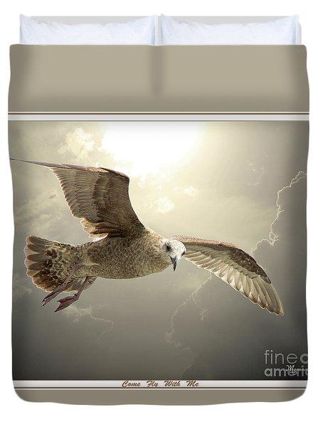 Come Fly With Me Duvet Cover by Mariarosa Rockefeller