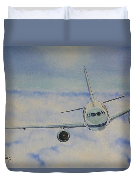 Come Fly With Me.... Plane Duvet Cover