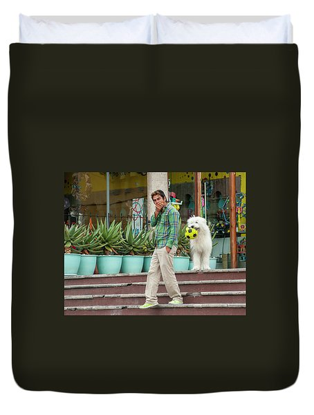 Come On And Play Duvet Cover