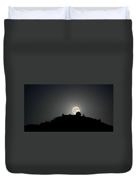 Come On You Stranger, And Shine In On Lick Observatory Duvet Cover