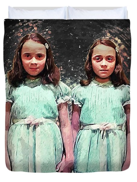 Come Play With Us - The Shining Twins Duvet Cover