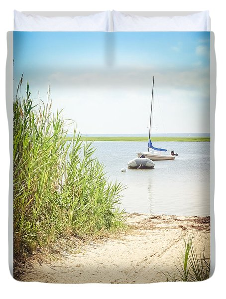 Come Sail Away Duvet Cover by Colleen Kammerer