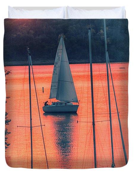 Come Sail Away Duvet Cover