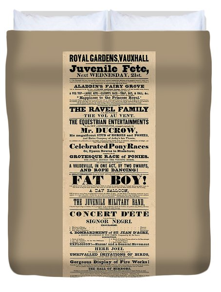 Come See The Fat Boy Duvet Cover