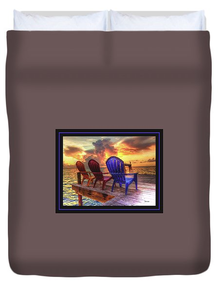 Come Sit A While Duvet Cover by Steven Lebron Langston