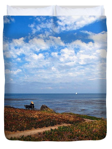 Duvet Cover featuring the photograph Come Sit With Me by Joyce Dickens
