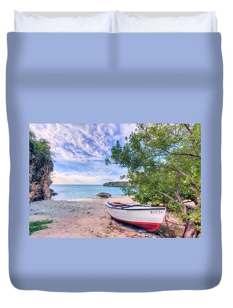 Come To Curacao Duvet Cover