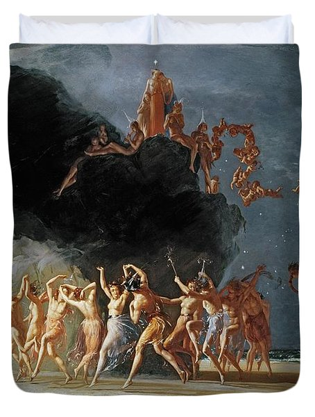 Come Unto These Yellow Sands Duvet Cover by Richard Dadd