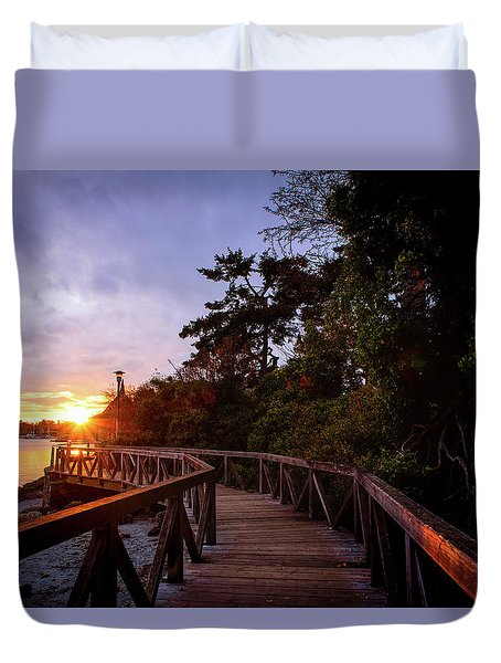 Come Walk With Me Duvet Cover