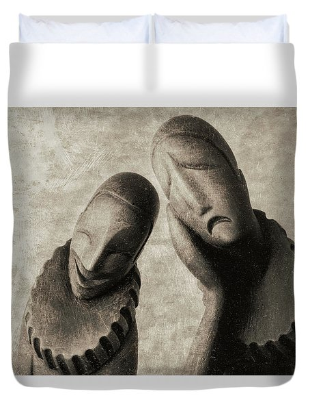 Comedy And Tragedy Duvet Cover