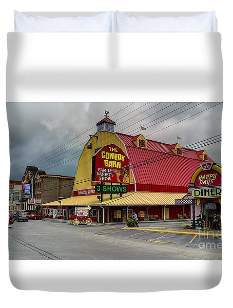 Comedy Barn Pigeon Forge Duvet Cover